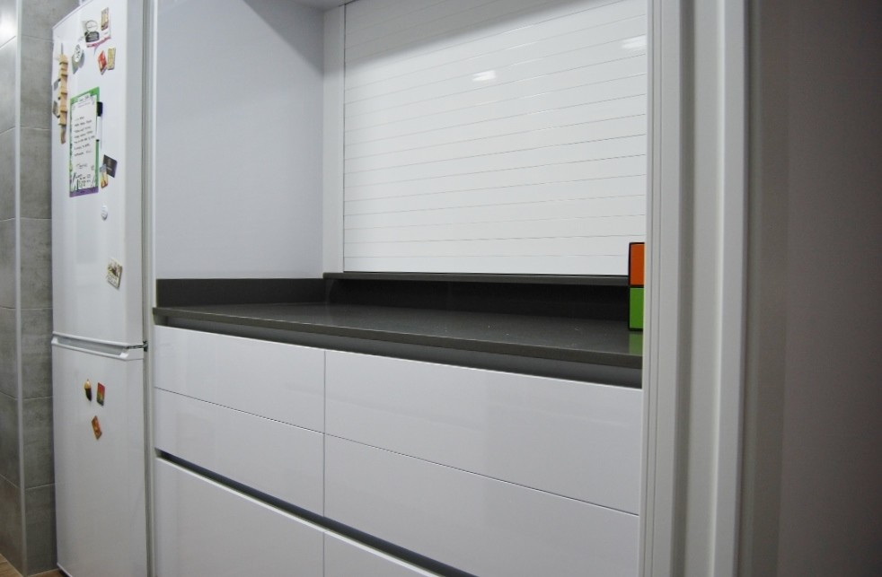 Persiana aluminio blanca