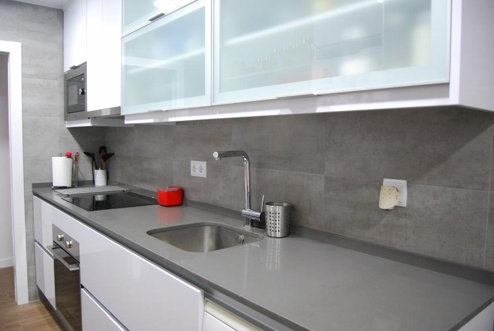 Mueble cocina blanco brillo